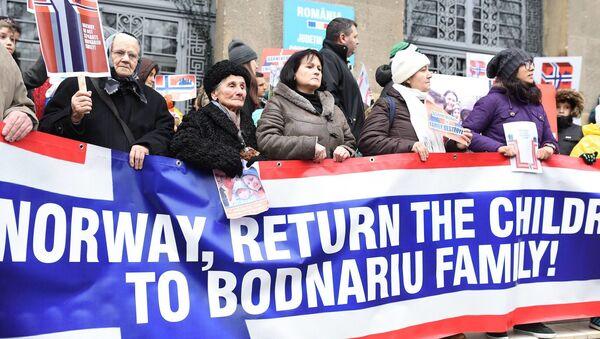 Akcja protestu Stop Barnevernet w Norwegii - Sputnik Polska