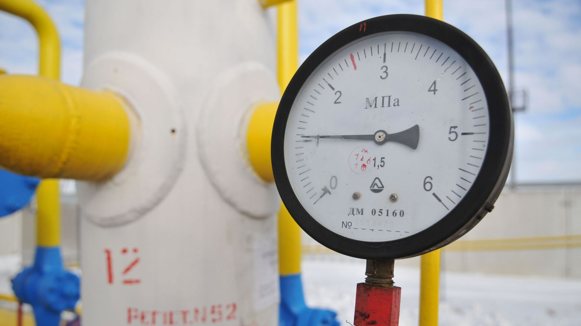"""Manometr na stacji przesyłu gazu """"Nieżuchiw"""" w obwodzie lwowskim - Sputnik Polska, 1920, 08.09.2021"""