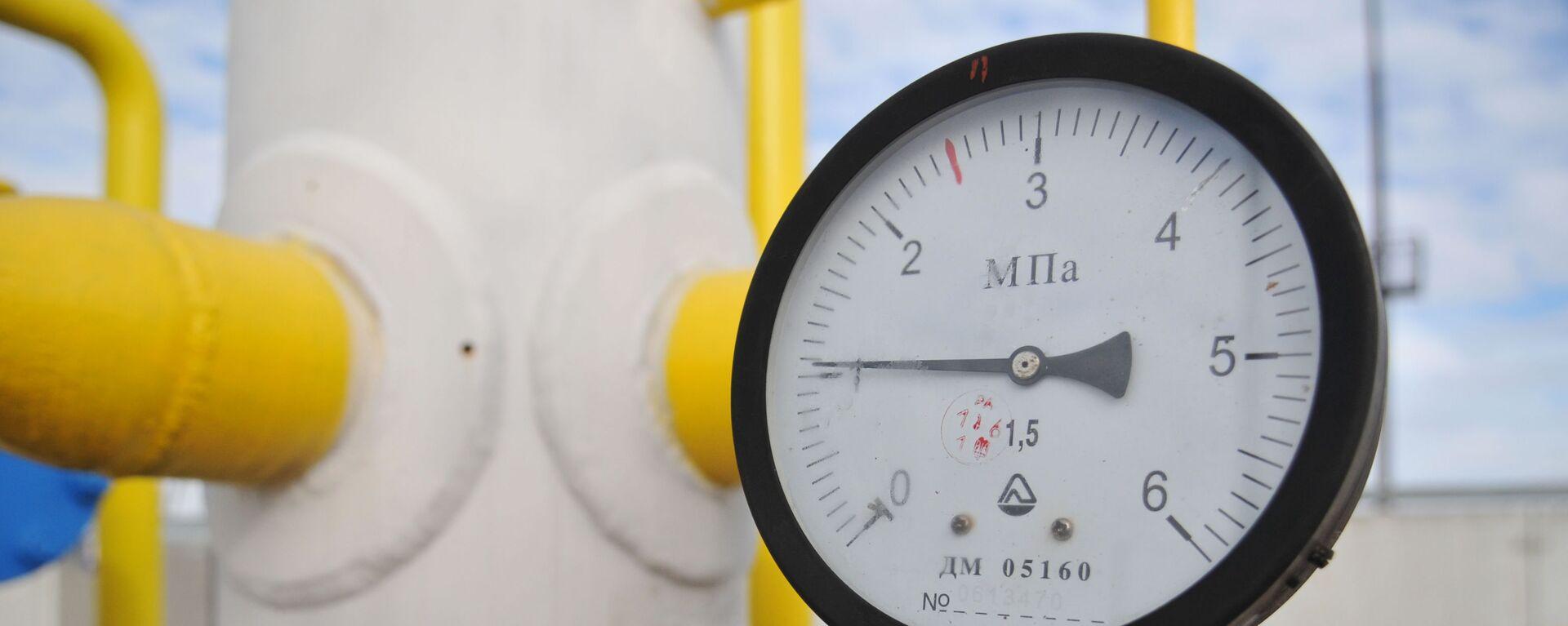 """Manometr na stacji przesyłu gazu """"Nieżuchiw"""" w obwodzie lwowskim - Sputnik Polska, 1920, 28.09.2021"""