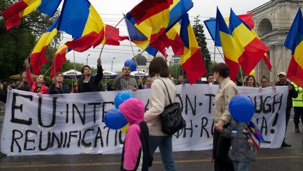 Akcja protestacyjna w Kiszyniowie - Sputnik Polska