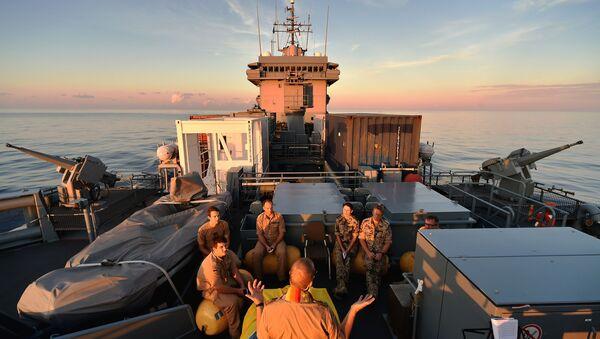 Pływająca baza Werra wchodząca w skład marynarki wojennej Niemiec - Sputnik Polska