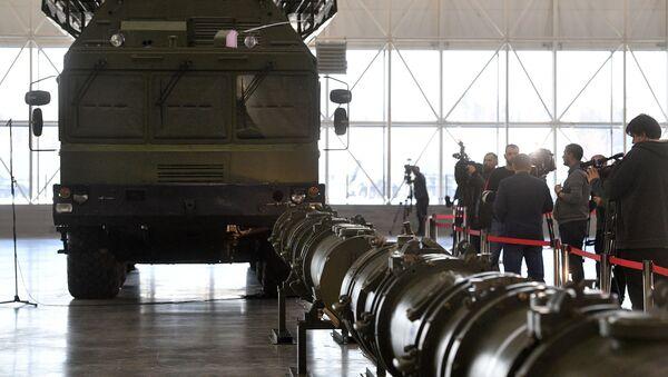 Rakieta 9M729 w pawilonie wystawowym w obwodzie moskiewskim - Sputnik Polska