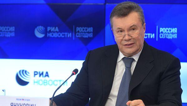 """W """"Rossiya segodnya trwa konferencja prasowa Wiktora Janukowycza - Sputnik Polska"""