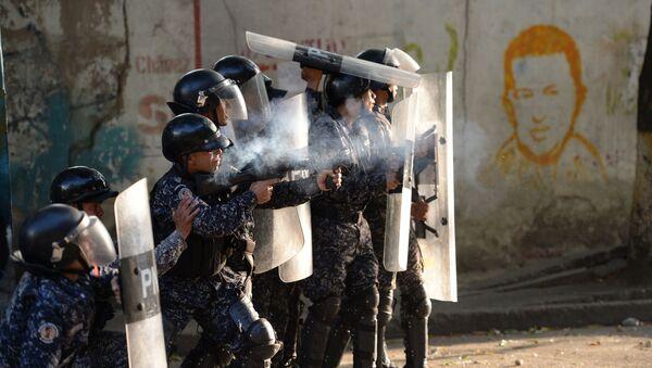 Protesty w Caracas, Wenezuela - Sputnik Polska