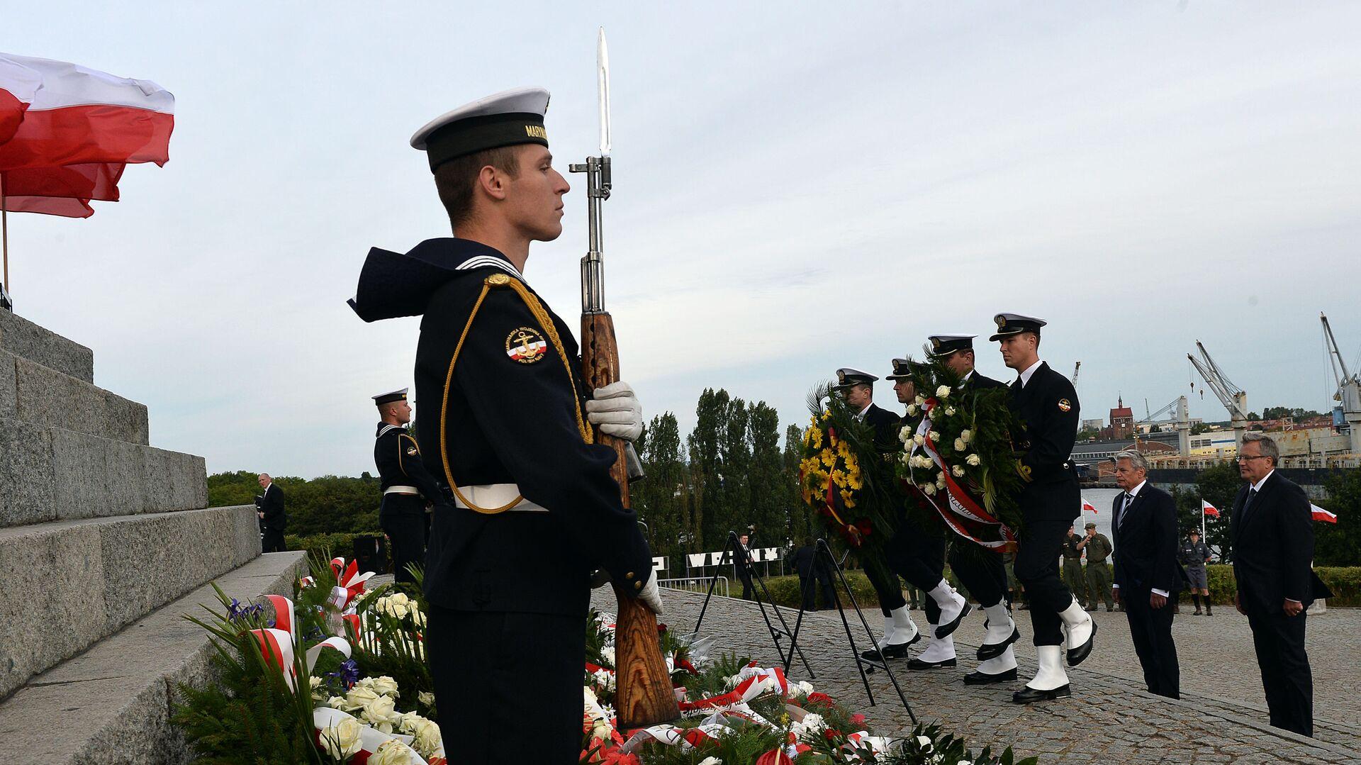 Uroczystości z okazji 75. rocznicy wybuchu II wojny światowej w Gdańsku. Zdjęcie archiwalne - Sputnik Polska, 1920, 01.09.2021