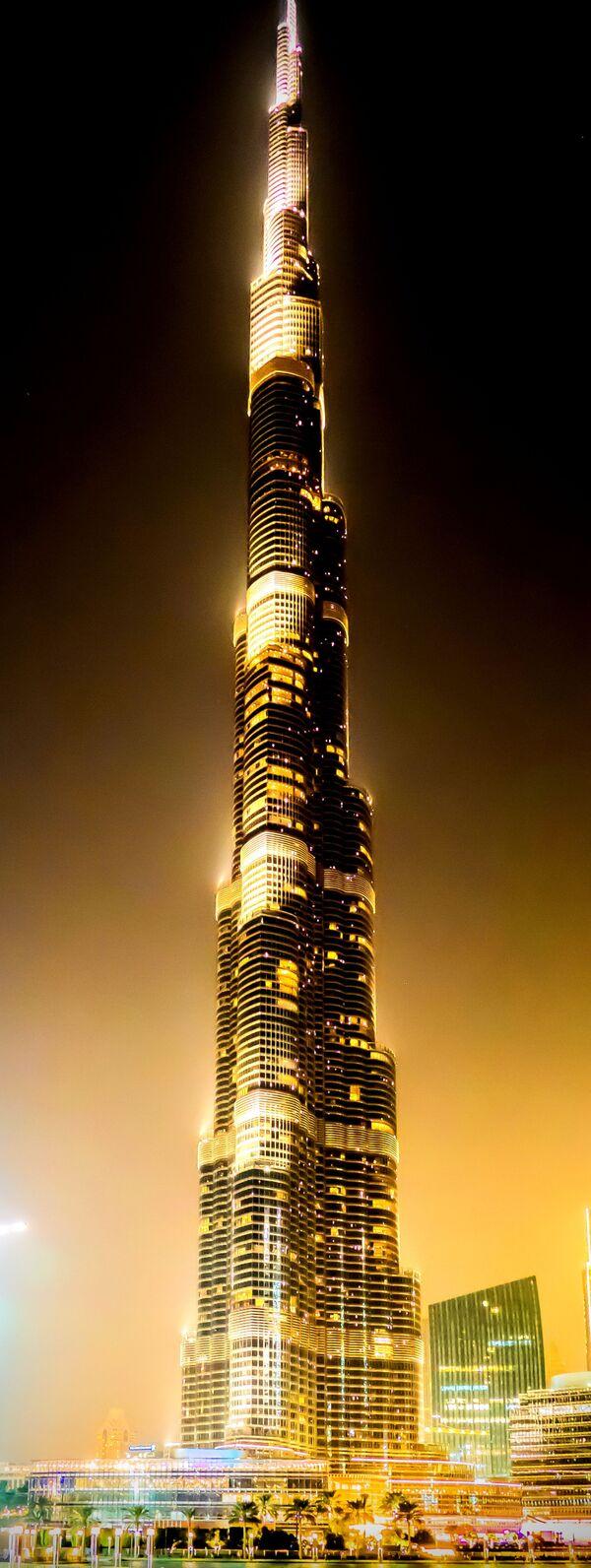 Wieża Chalify, przed otwarciem: Burdż Dubajj - wieżowiec w Dubaju, w Zjednoczonych Emiratach Arabskich - Sputnik Polska