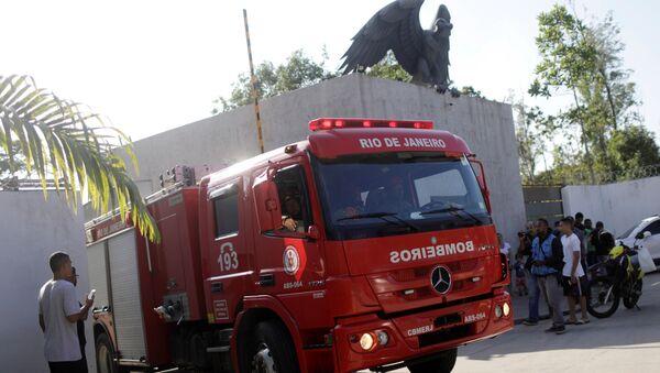 Pożar w ośrodku szkoleniowym klubu piłkarskiego Flamengo Rio de Janeiro - Sputnik Polska