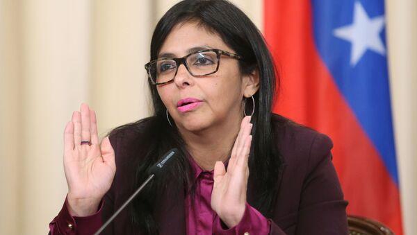 Wiceprezydent Wenezueli Delcy Rodríguez - Sputnik Polska