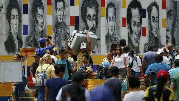 Wenezuelczycy na granicy z Kolumbią - Sputnik Polska