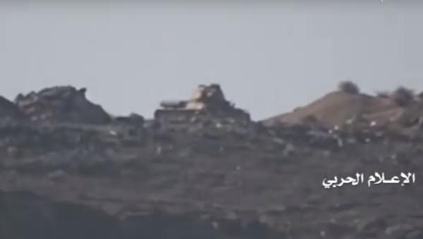 Ostrzał rakietowy czołgu T-34-85 w Jemenie - Sputnik Polska