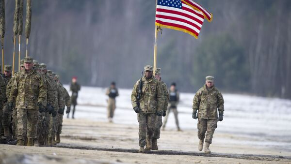 Amerykańscy żołnierze w Polsce. Zdjęcie archiwalne - Sputnik Polska
