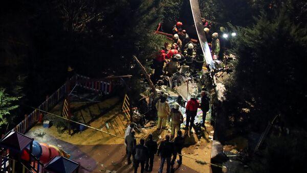 Katastrofa helikoptera wojskowego w Stambule - Sputnik Polska