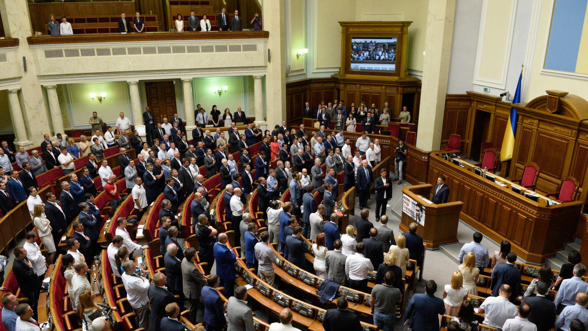 Posiedzenie Rady Najwyższej Ukrainy w Kijowie - Sputnik Polska, 1920, 03.09.2021