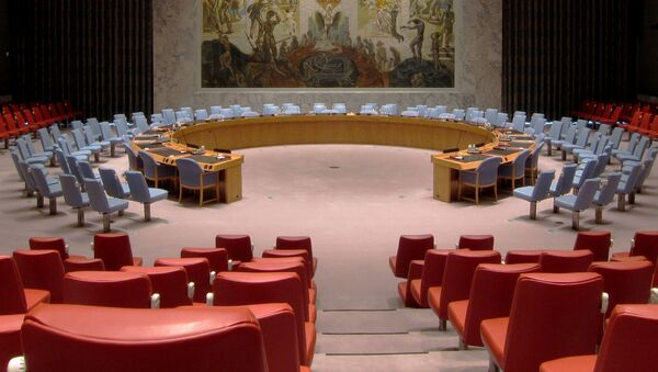 Sala posiedzeń Rady Bezpieczeństwa ONZ w Nowym Jorku - Sputnik Polska