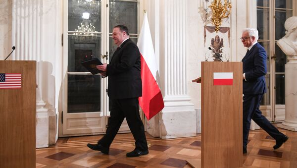Konferencja sekretarza stanu USA Mike'a Pompeo i szefa MSZ Polski Jacka Czaputowicza w Warszawie - Sputnik Polska
