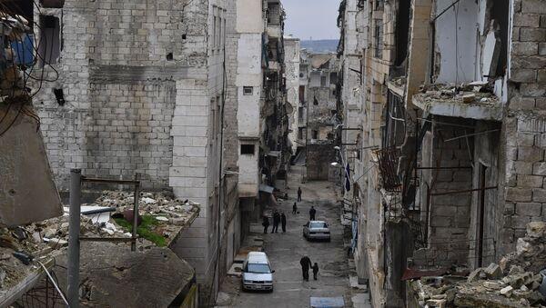 Życie w zrujnowanych rejonach syryjskiego Aleppo - Sputnik Polska