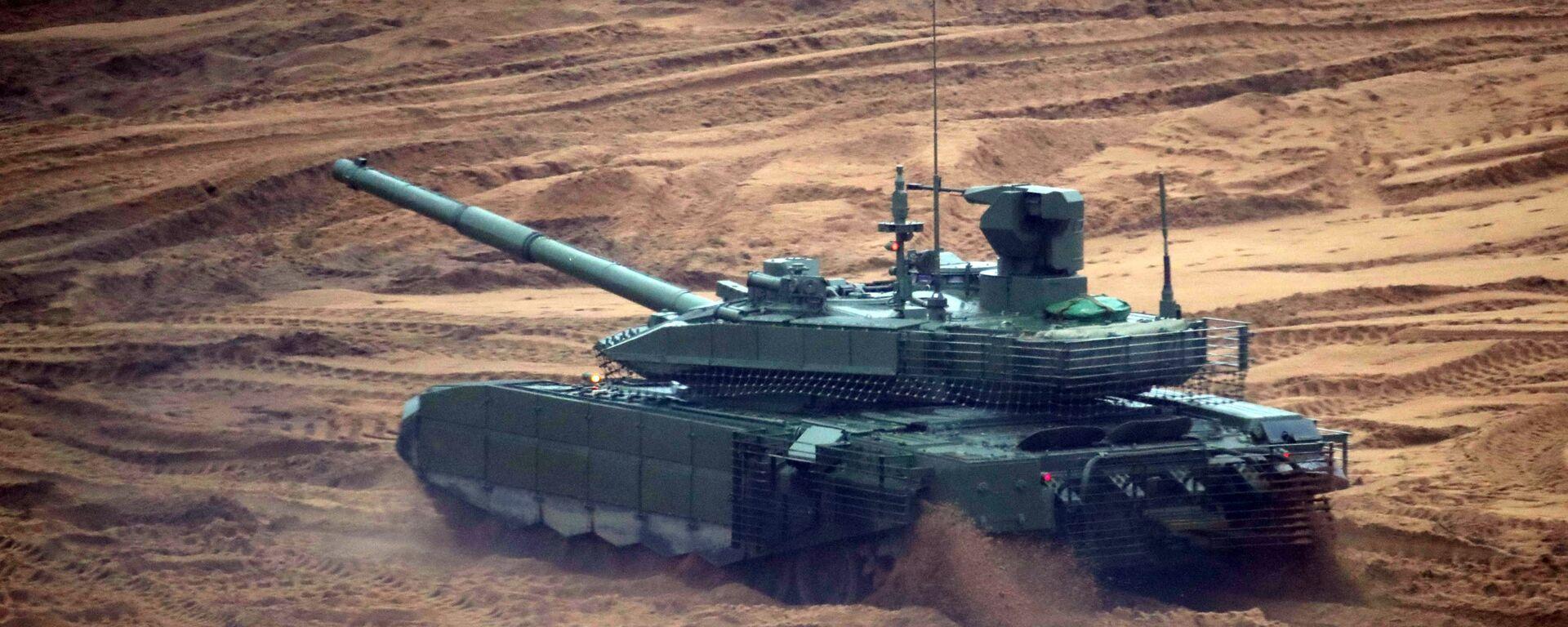 """Czołg T-90MS """"Tagił"""" podczas wspólnych ćwiczeń strategicznych """"Zapad-2017"""" - Sputnik Polska, 1920, 23.02.2020"""