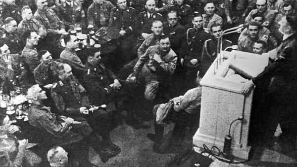Przemówienie na zebraniu oficerskim Führera Adolfa Hitlera - Sputnik Polska