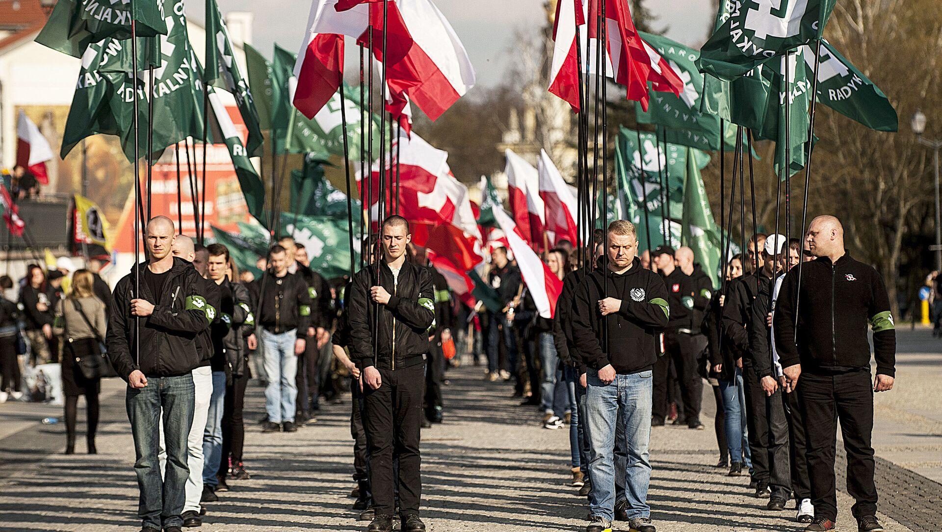 Marsz narodowców w Białymstoku. Zdjęcie archiwalne - Sputnik Polska, 1920, 25.02.2021
