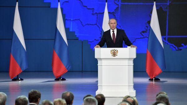 Przemówienie Władimira Putina do Zgromadzenia Federalnego FR. 20 lutego 2019 r. - Sputnik Polska