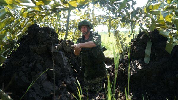 Ćwiczenia piechoty morskiej w Kraju Krasnodarskim, 2017 r. - Sputnik Polska