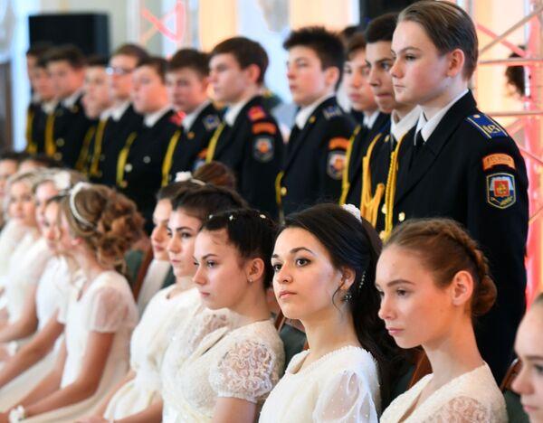 Bal Kadetów w Domu Paszkowa w Moskwie - Sputnik Polska