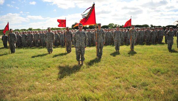 Żołnierze amerykańskiej armii w bazie wojskowej Fort Hood w Teksasie - Sputnik Polska