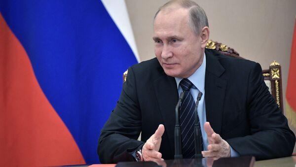 Prezydent Rosji Władimir Putin na spotkaniu ze stałymi członkami Rady Bezpieczeństwa Federacji Rosyjskiej - Sputnik Polska