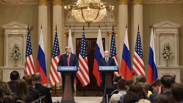 Spotkanie Putin-Trump w Helsinkach, 16 lipca 2018 - Sputnik Polska