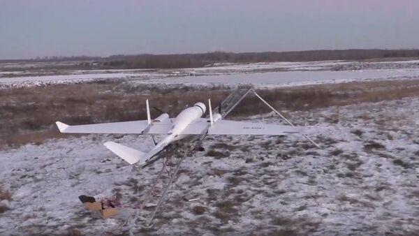 Białoruski dron na poligonie wojskowym - Sputnik Polska