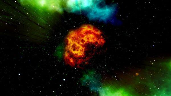 Огненный шар в космосе - Sputnik Polska